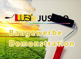 Baugewerbe Demonstration