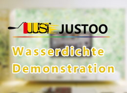 Wasserdichte Demonstration